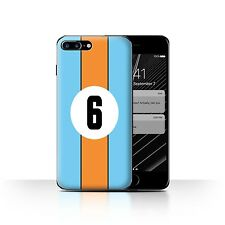 STUFF4 Back Case/Cover/Skin for Apple iPhone 7 Plus/Racing Car Stripes