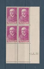 timbre France bloc de 4 coin daté  Jean Charcot  90C lilas rose num: 377A  **