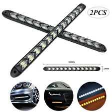 2* Car Turn Signal Flexible Daytime Lamp LED Flowing Light Waterproof Strip DRL