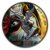 2019 Santa Muerte 1 oz Mexico Libertad Silver Coin - Black Ruthenium