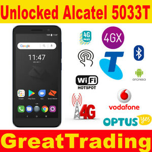 New  Boost Reo Alcatel  5033T 4G Blue tick Blac / Blue  -  all networks