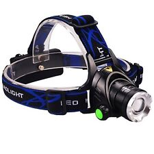 Ultra-Bright Headlamp with Rechargeable Batteries, DLAND LED Light Waterproof Zo