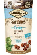 Carnilove Grain Free Soft Snack Cat Kitten Treats Sardines & Parsley 50g x 2