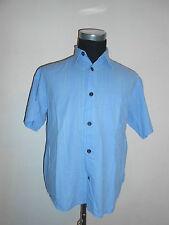 180 27 SIGNUM Camisa De Diseño T. M/L Azul Claro KITT Aqua manga corta a rayas