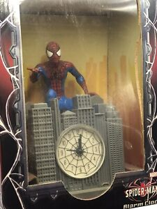 VINTAGE Amazing Spider-Man Alarm Clock Marvel Interactive Theme Song Rare 2002