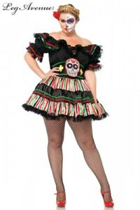 New Party  Day of the Dead Curvy Doll 2 PIece Costume Costume