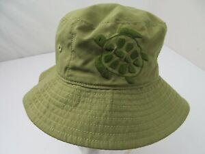 Green Blue Sea Turtles Reversible Bucket Hat Kid's Cap