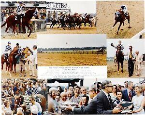 "1973 - SECRETARIAT - 9 Photo Belmont Stakes Composite - 10"" x 8"""