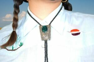 Abalone Sterling Bolo Tie
