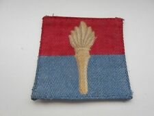 18th royal artillery training brigade printed   cloth formation patch