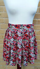 Cameo Rose New Look Women's Mini Skirt with Pink and Red Floral Pattern Size 10