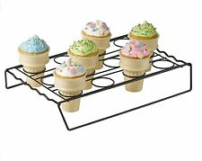 New Nifty Ice Cream Cone Cupcake Baking Rack Holder Stand 12 Cone Cupcakes