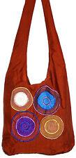 Sac Bandouliere Ethnique Sac à Main Coton Besace Ethnik Bag marron femme