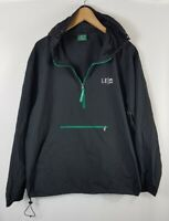 Starbucks LE19 Mens Windbreaker Jacket Size XL Extra Large Hooded Black Overhead