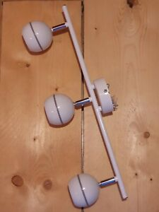 Melanippe White 3 Lamp Spotlight Mains Powered Retro Style VGC