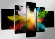 Bild 200x100 cm 5 tlg Farben echte Leinwand XXXL Bilder Nr 6316>  Visario