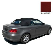 BMW 1-Series Convertible Soft Top 2008-13 Bordeaux RPC Cloth, with Glass Window