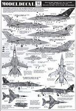 NEW Modeldecal 98 1:72 RAF Panavia Tornado F.3 / Sepecat Jaguar GR.1A / F-16A