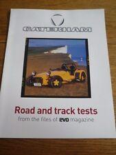 "Caterham seven, bmw m, elan + plus road & track tests evo magazine ""brochure"" 1998"
