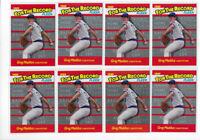 (8) 1989 FLEER FOR THE RECORD GREG MADDUX  CHICAGO CUBS HOF