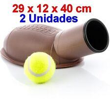 2 x Lanzapelotas lanzador de pelotas para perro+pelotas de tenis,lanza hasta 15m
