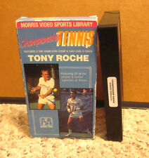 TONY ROCHE Championship Tennis Lessons instructional 1987 lessons Bjorn Borg VHS