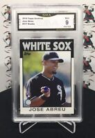 2014 TOPPS ARCHIVES JOSE ABREU RC ROOKIE SSP '86 STYLE #217 - WHITE SOX   JY9