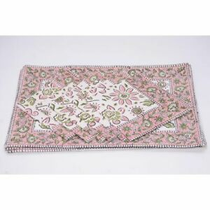 100% Cotton Table Mats and Napkins Set 1 of 12 Stylish Floral Dining Place-Mat