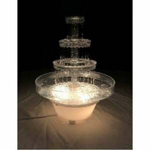 Lighted Plastic Water Fountain For Weddings, Garden, Home, Office, or Cake