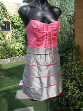 summer Dress-Pink & Grey -Cocktail- Club - Casual -Aviva -Size M-RRP $295