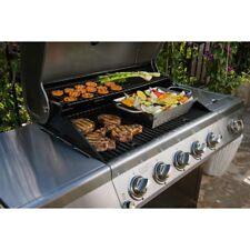 Nexgrill Propane Gas Grill 5 Burner Stainless Steel Side Burner Black Cabinet