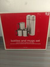 Target (2) Flask Bottles And (4) Mugs Set New In Package Complete Travel Outdoor