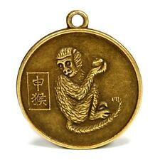 """YEAR of the MONKEY GOOD LUCK CHARM 1"""" Chinese Zodiac Horoscope Feng Shui NEW"""