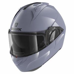 Shark Evo GT Blank Gloss Grey Motorbike Motorcycle Helmet