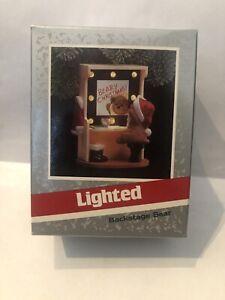 Vintage Hallmark Keepsake 1989 Magic Ornament LIGHTED BACKSTAGE BEAR