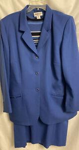 Vtg Pendleton Womens 100% Virgin Wool Blazer Skirt Suit and Sweater EUC Blue