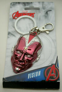 Marvel Comics Vision Red Color Heavy Metal Key Chain New NOS MIP