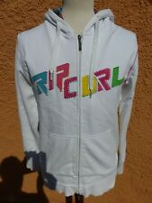 Mens Rip Curl Planet Warm White Hoodie Size S (see pics re size)