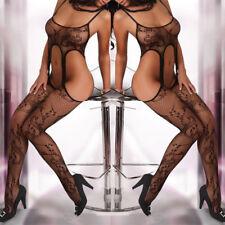 Women Sexy Lingerie Nightwear Open Fishnet Body Stocking Bodysuit Sleepwear
