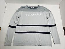 SoulCycle Long Sleeve Cycling Shirt Unisex Adult Medium Gray