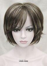 Medium Brown with Blonde Short Straight Women Ladies Daily Full Wig FYTLD179