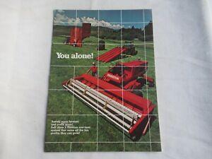 Hesston hay equipment  brochure 6600 windrower