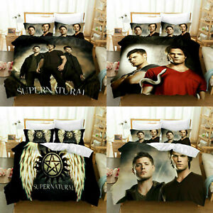 US Stock Supernatural 3PCS Bedding Set Quilt Cover Pillowcases Duvet Cover Gifts