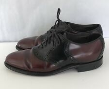 Bostonian Classics Men's Shoes Size 9 Leather Oxfords Burgundy & Black Dress #XY