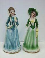 Vintage UCGC Porcelain Bisque Figurines - Southern Belles - Set of 2