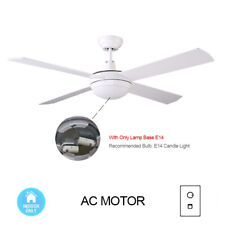 "52"" 130CM Ceiling Fan 4 Blade with Wall Control Indoor-White"