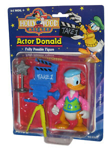 Disney Hollywood Mickey Mattel Arco Toys Actor Donald Action Figure