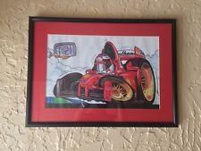 Ferrari Michael Schumacher F1 Car Cartoon Very Rare