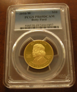 US 2016W Gold 1/2 oz $10 PCGS PF69DCAM First Spouse Series Betty Ford