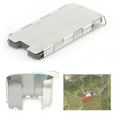Survival Plates Foldable Cooker Wind Field Gas Stove Metal Camping Windscreen 9